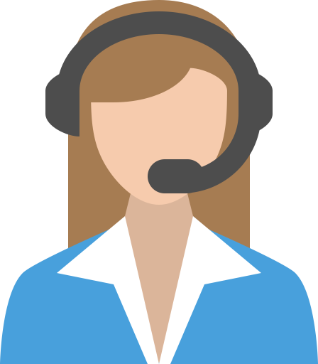 Mulher usando um headset Creditos para https://www.iconfinder.com/icons/416400/business_customer_service_support_icon